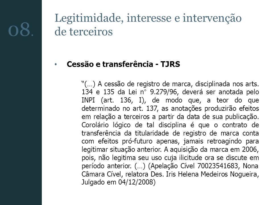 08. Legitimidade, interesse e intervenção de terceiros