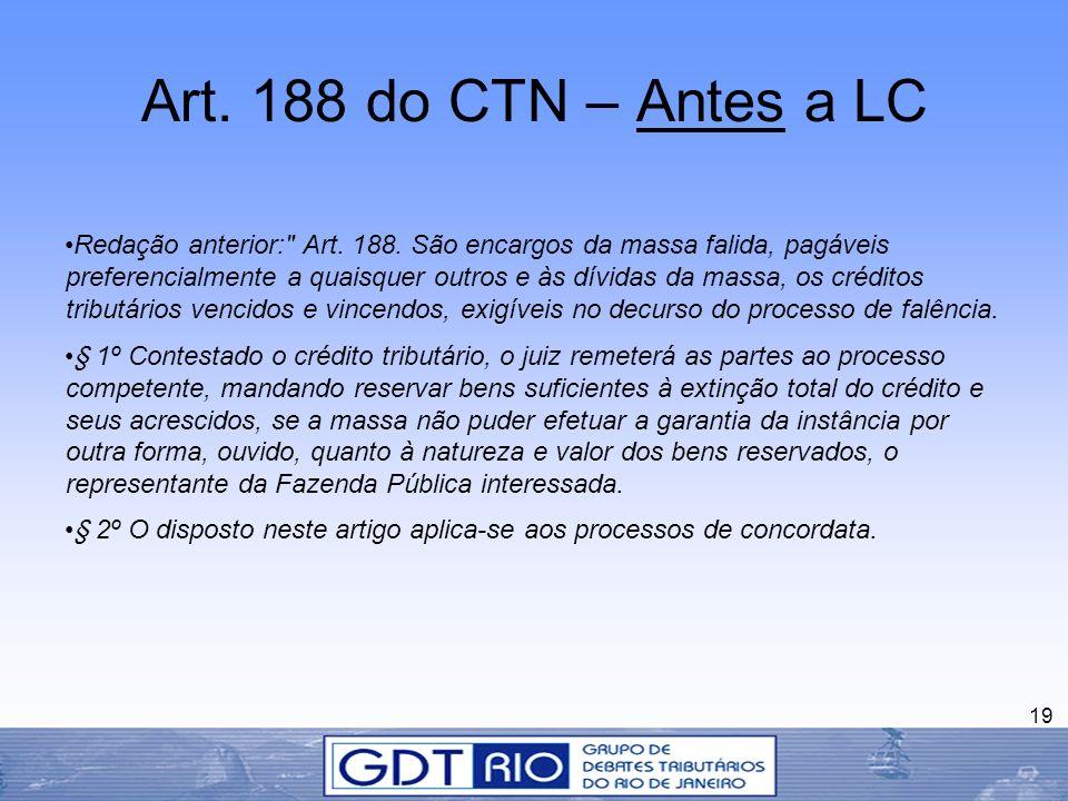 Art. 188 do CTN – Antes a LC