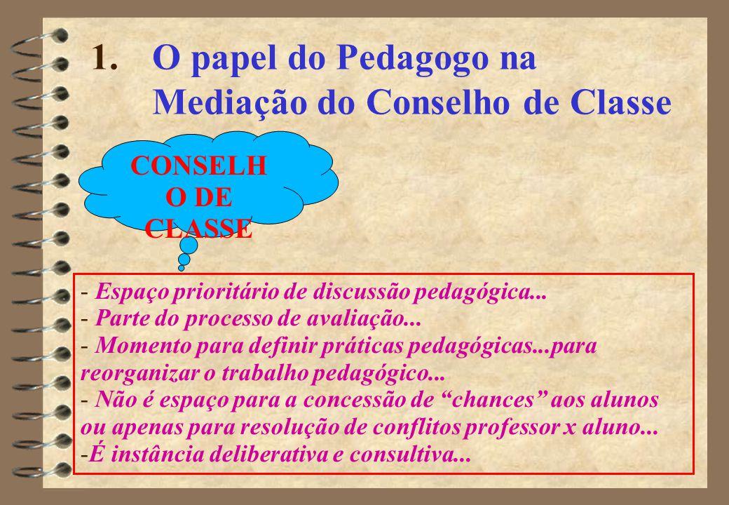 O papel do Pedagogo na Mediação do Conselho de Classe