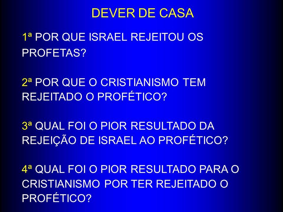 DEVER DE CASA 1ª POR QUE ISRAEL REJEITOU OS PROFETAS