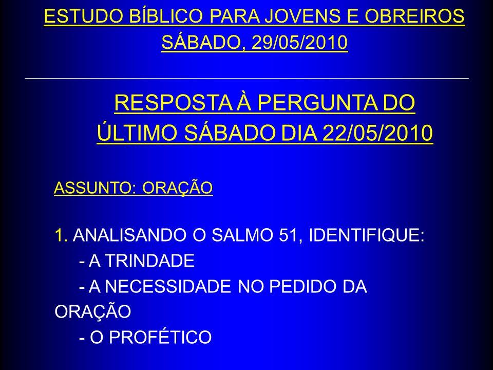 ESTUDO BÍBLICO PARA JOVENS E OBREIROS