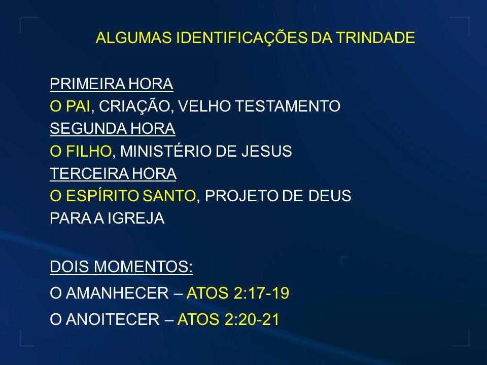 ALGUMAS IDENTIFICAÇÕES DA TRINDADE