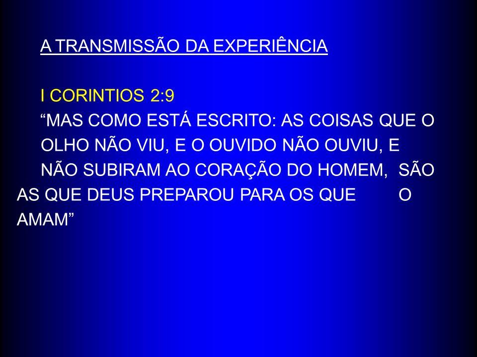 A TRANSMISSÃO DA EXPERIÊNCIA