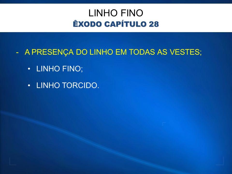 LINHO FINO A PRESENÇA DO LINHO EM TODAS AS VESTES; LINHO FINO;