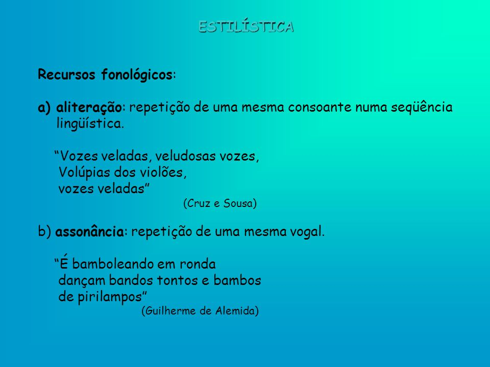 Recursos fonológicos: