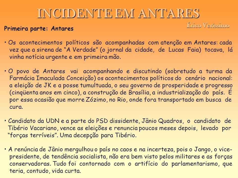 INCIDENTE EM ANTARES Érico Veríssimo Primeira parte: Antares