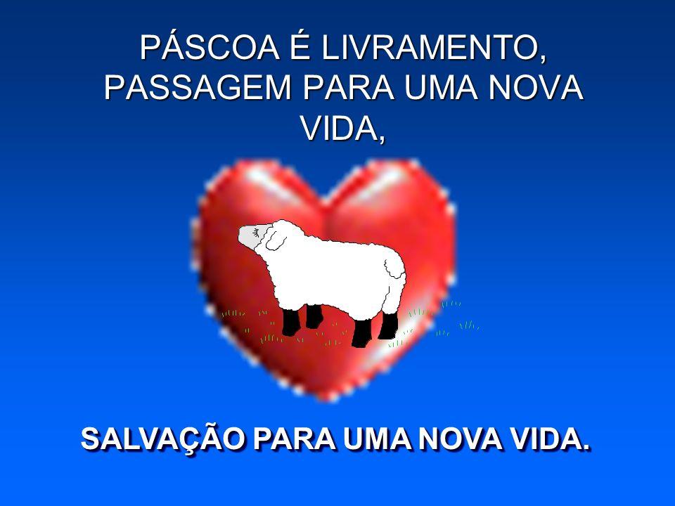 PÁSCOA É LIVRAMENTO, PASSAGEM PARA UMA NOVA VIDA,