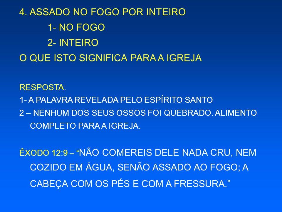 4. ASSADO NO FOGO POR INTEIRO 1- NO FOGO 2- INTEIRO
