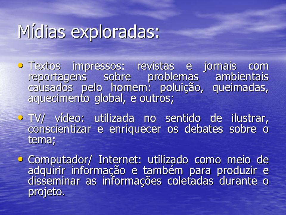Mídias exploradas: