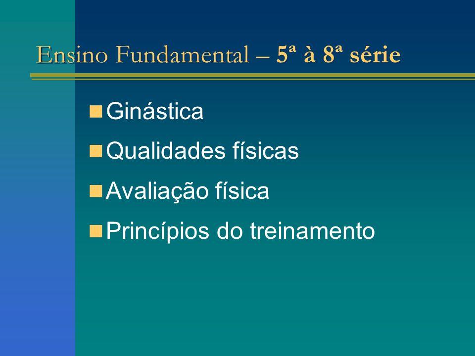 Ensino Fundamental – 5ª à 8ª série