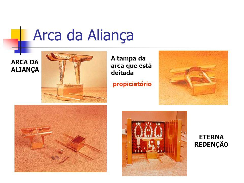 Arca da Aliança A tampa da arca que está deitada ARCA DA ALIANÇA