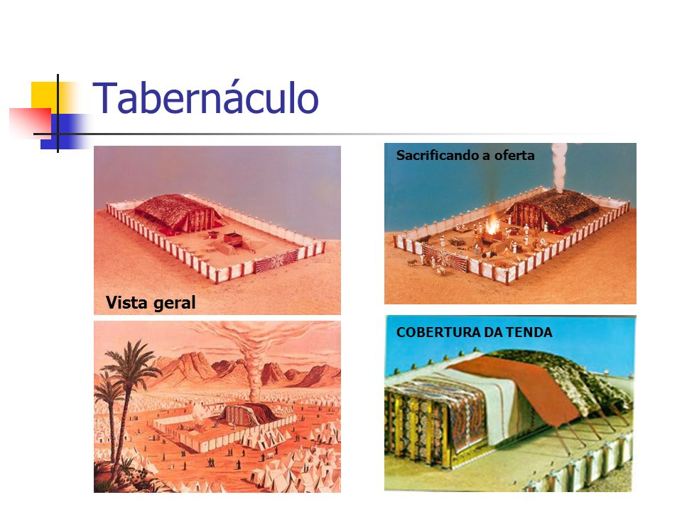 Tabernáculo Sacrificando a oferta Vista geral COBERTURA DA TENDA