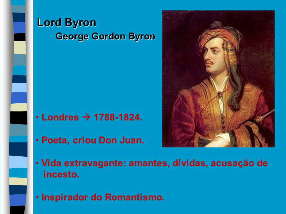 Lord Byron George Gordon Byron Londres  1788-1824.