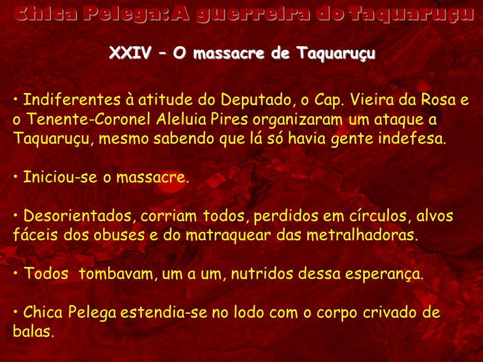 Chica Pelega: A guerreira do Taquaruçu XXIV – O massacre de Taquaruçu