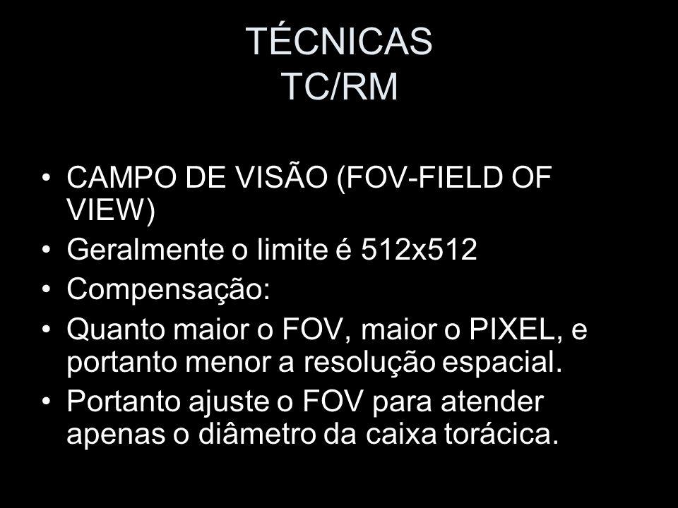 TÉCNICAS TC/RM CAMPO DE VISÃO (FOV-FIELD OF VIEW)