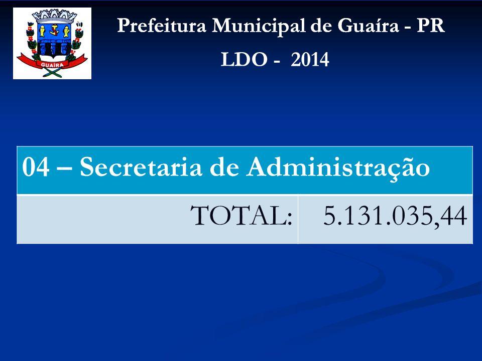 04 – Secretaria de Administração