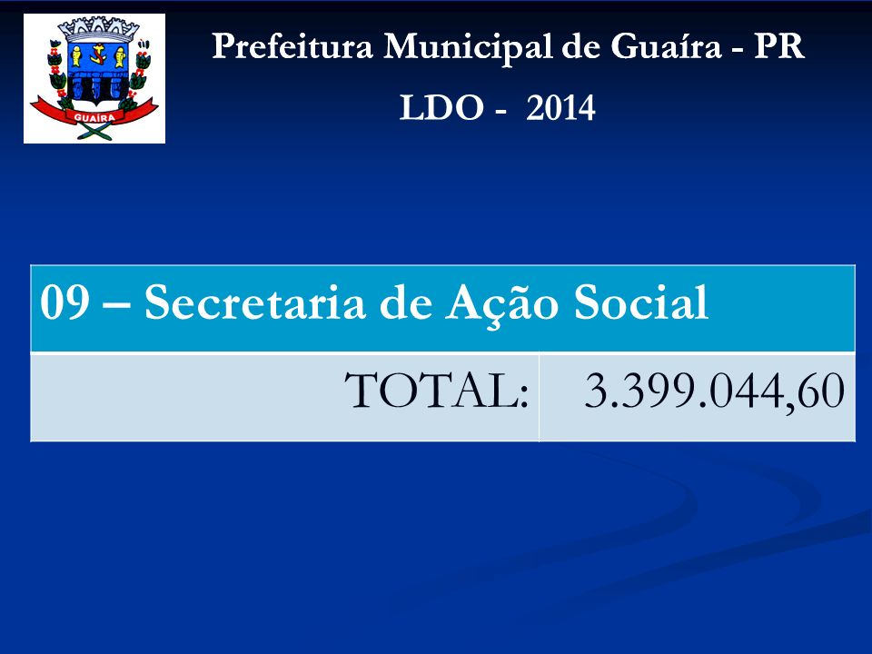 09 – Secretaria de Ação Social