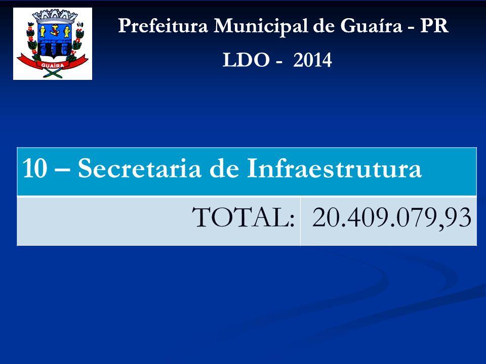 10 – Secretaria de Infraestrutura