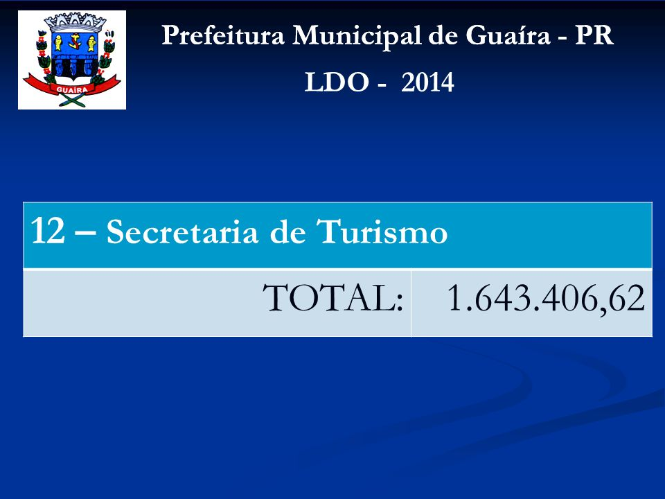 12 – Secretaria de Turismo