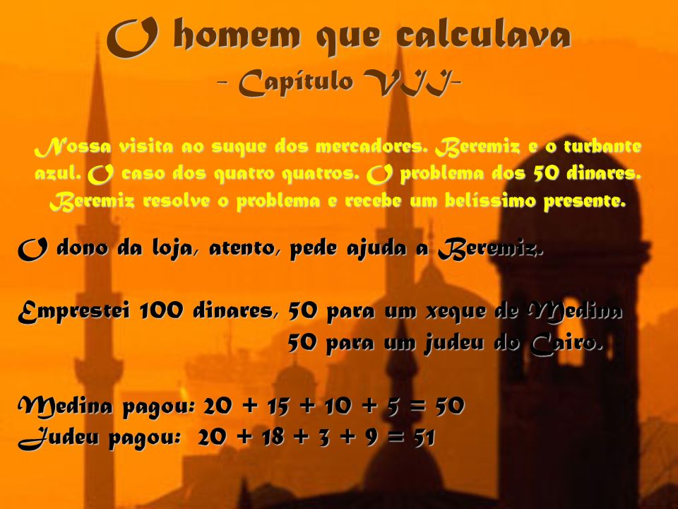 O homem que calculava - Capítulo VII-