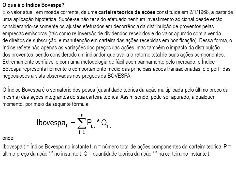 O que é o Índice Bovespa