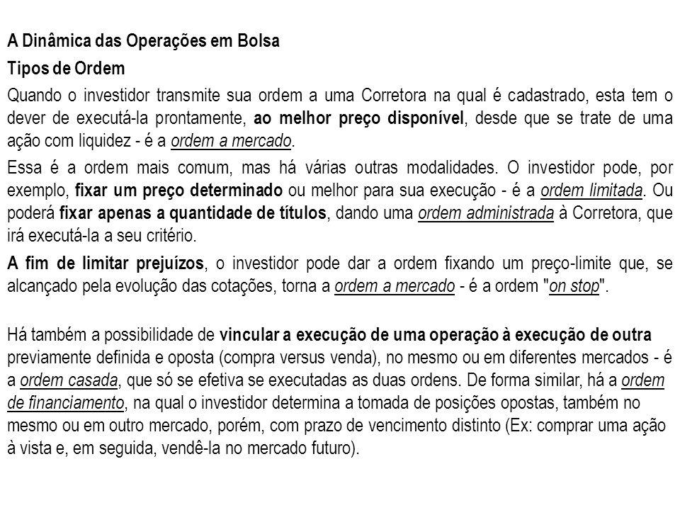 A Dinâmica das Operações em Bolsa