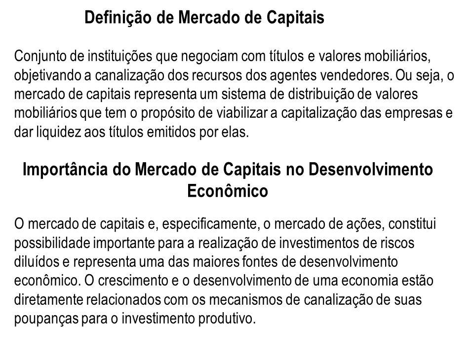 Definição de Mercado de Capitais