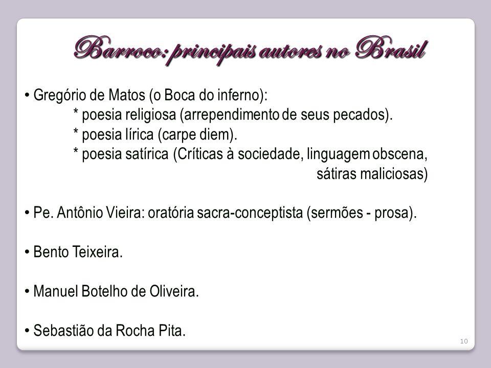 Barroco: principais autores no Brasil