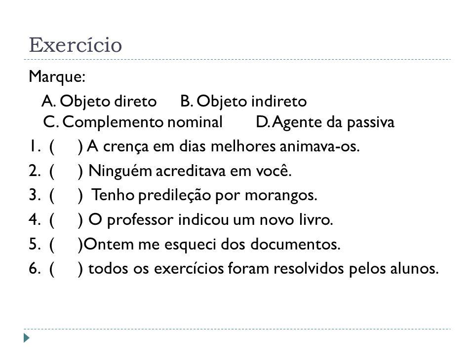 Exercício Marque: