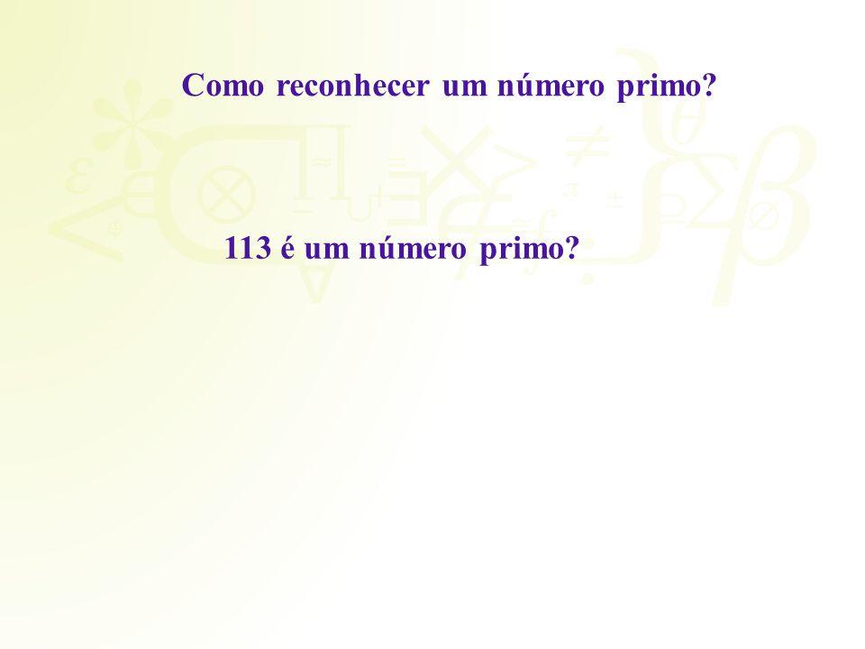 Como reconhecer um número primo