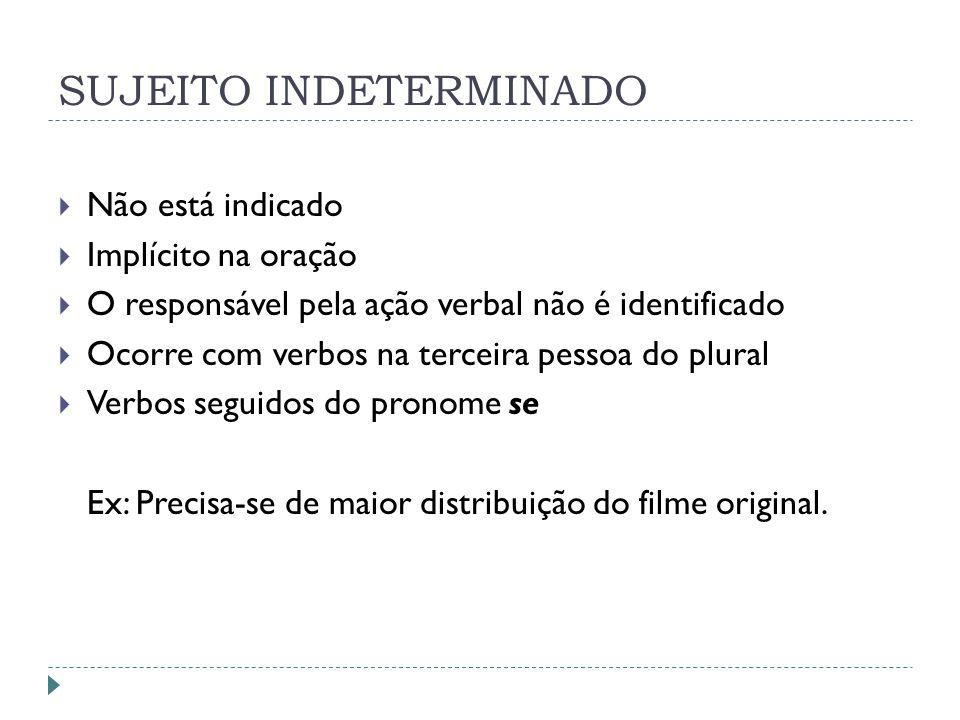 SUJEITO INDETERMINADO