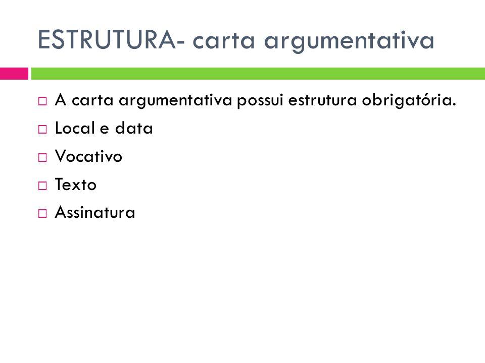 ESTRUTURA- carta argumentativa