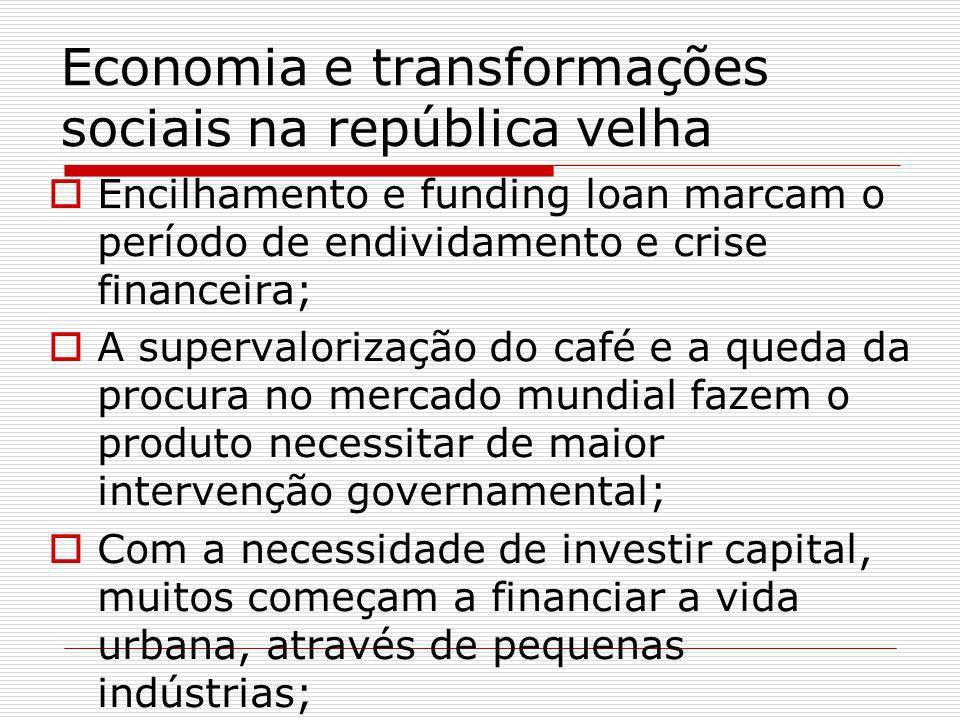 Economia e transformações sociais na república velha