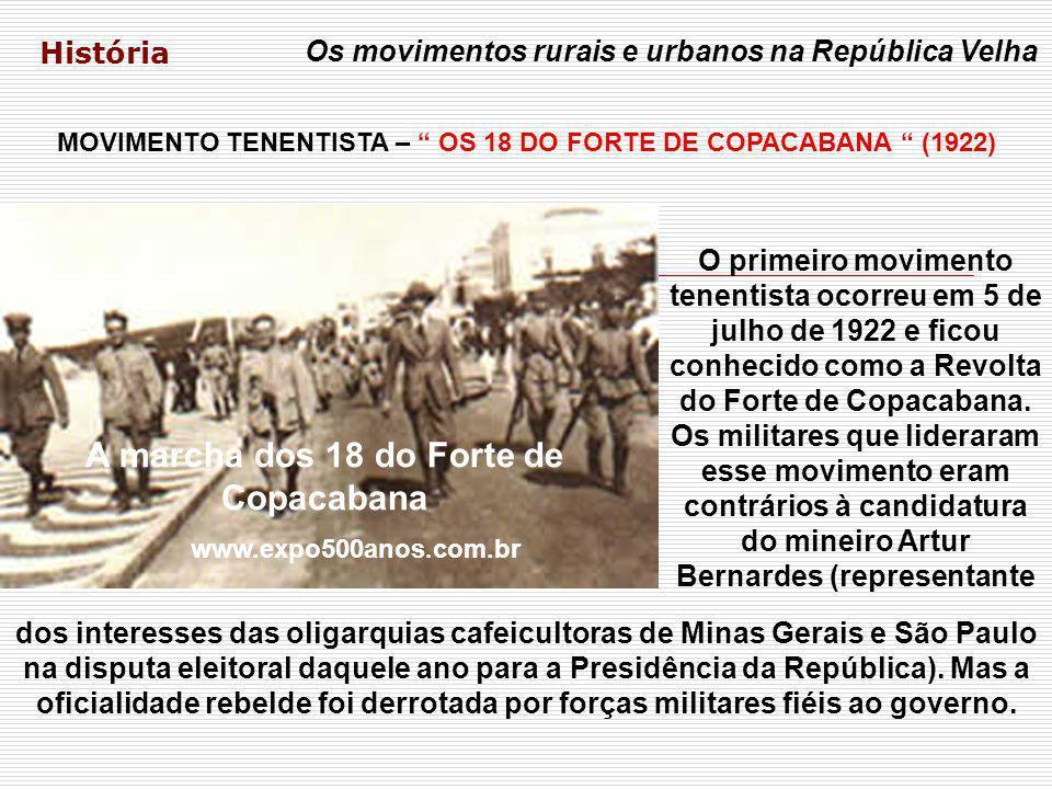 A marcha dos 18 do Forte de Copacabana