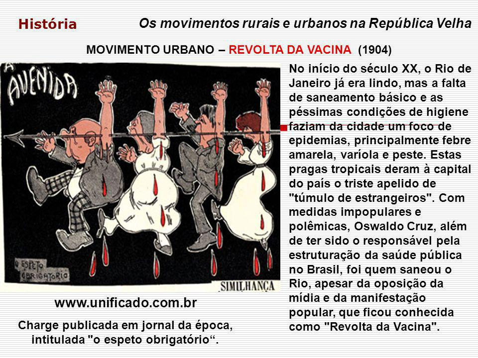 MOVIMENTO URBANO – REVOLTA DA VACINA (1904)