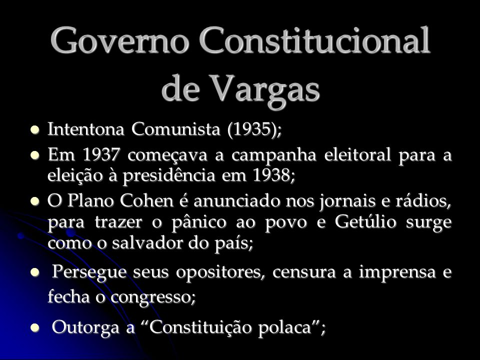 Governo Constitucional de Vargas