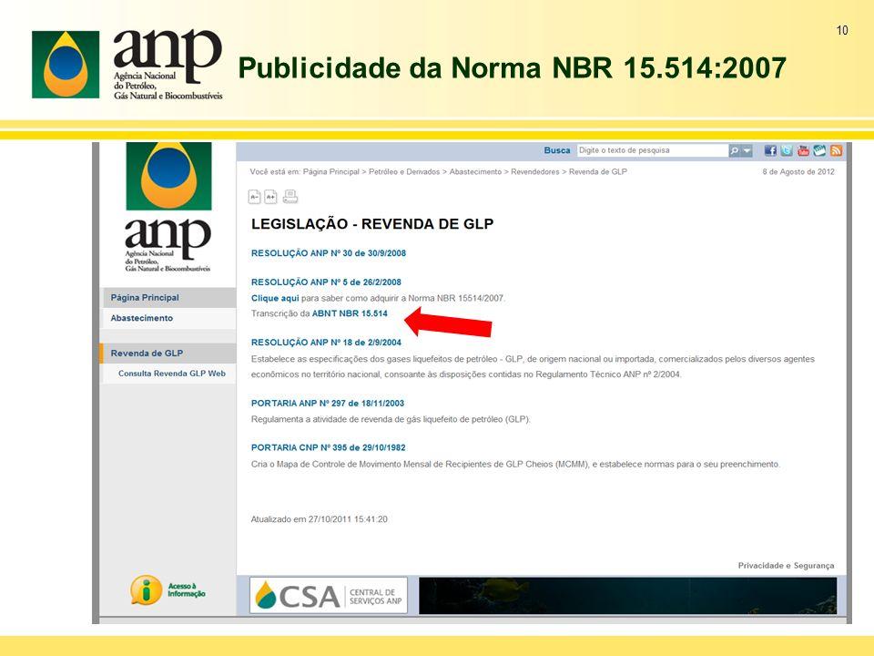Publicidade da Norma NBR 15.514:2007