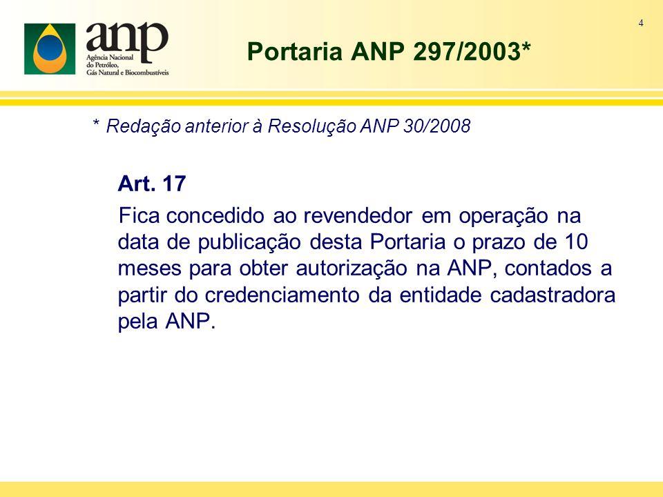 Portaria ANP 297/2003*