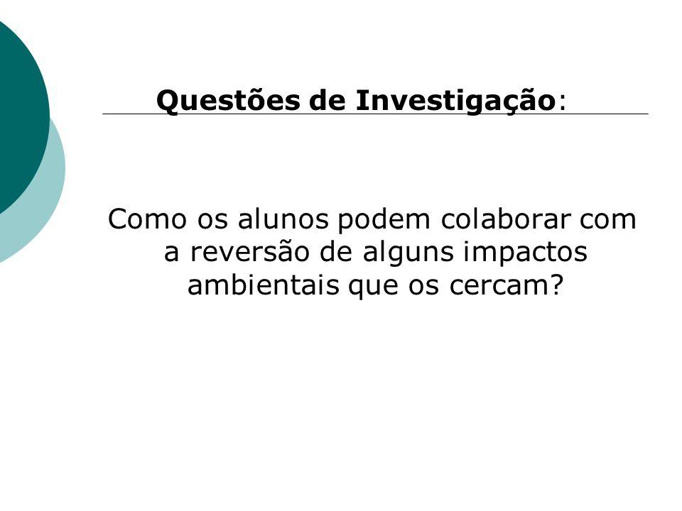 Questões de Investigação: