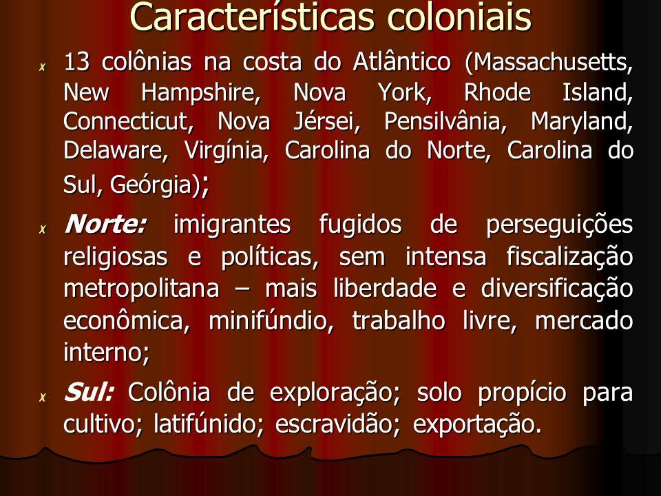 Características coloniais