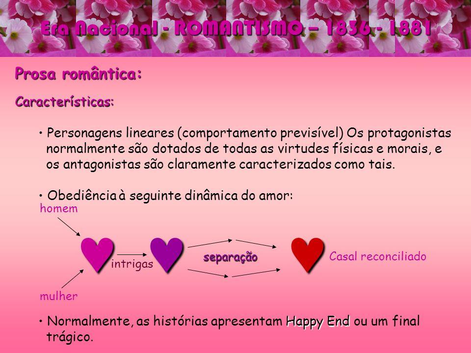 © © © Era Nacional - ROMANTISMO – 1836 - 1881 Prosa romântica: