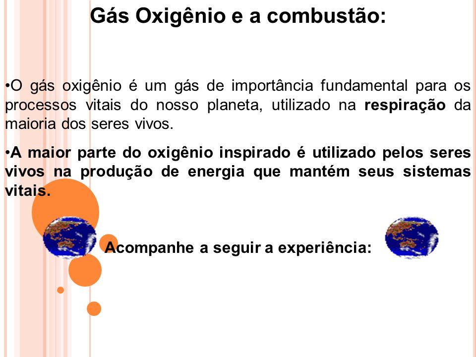Gás Oxigênio e a combustão: