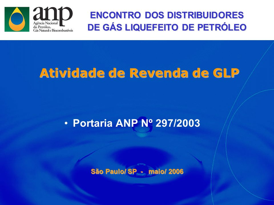 Atividade de Revenda de GLP