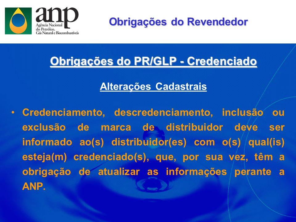 Obrigações do PR/GLP - Credenciado