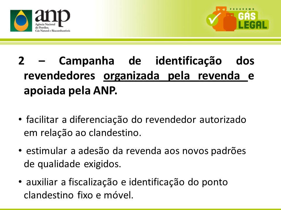 2 – Campanha de identificação dos revendedores organizada pela revenda e apoiada pela ANP.