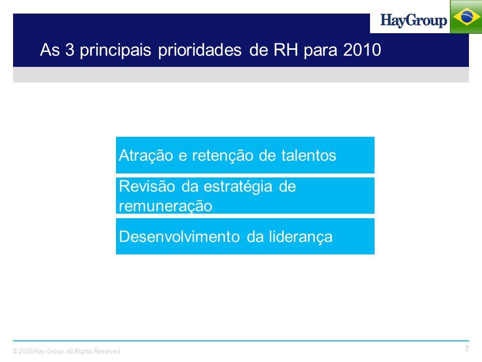 As 3 principais prioridades de RH para 2010