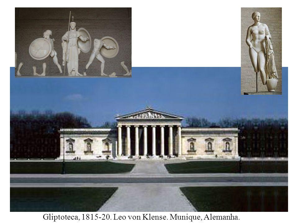 Gliptoteca, 1815-20. Leo von Klense. Munique, Alemanha.