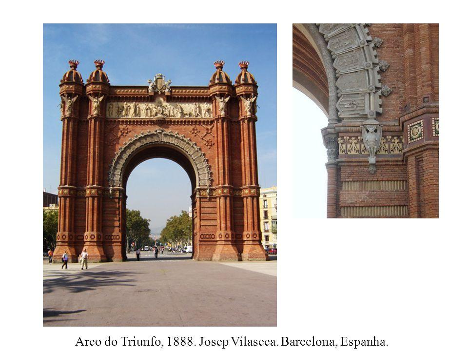 Arco do Triunfo, 1888. Josep Vilaseca. Barcelona, Espanha.