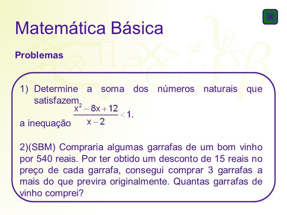 Matemática Básica Problemas