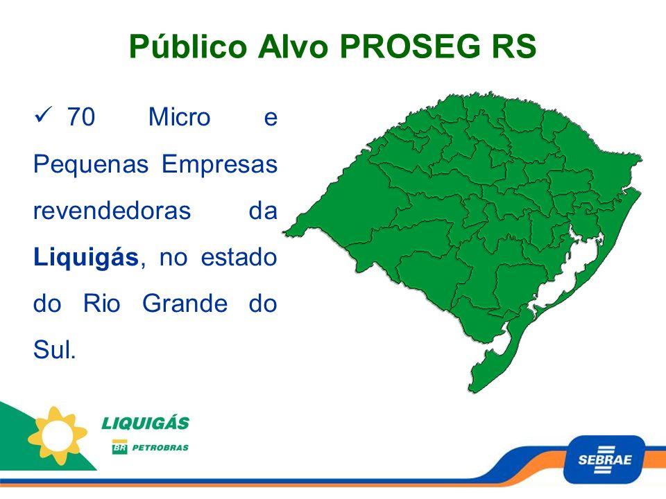 Público Alvo PROSEG RS 70 Micro e Pequenas Empresas revendedoras da Liquigás, no estado do Rio Grande do Sul.
